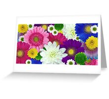 Colorful Multicolored Flowers Art Greeting Card