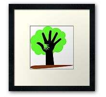Save Trees Save Earth Framed Print