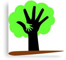 Save Trees Save Earth Canvas Print