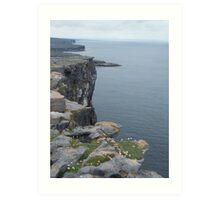 Cliffs of Dun Aengus Art Print