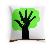 Save Trees Save Earth Throw Pillow