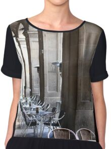 Table and Chairs Women's Chiffon Top