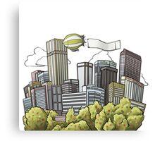 Downtown cannabis town Denver Canvas Print