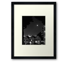 Lunar Eclipse Over San Francisco Framed Print