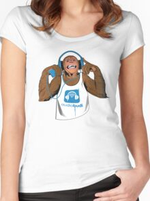 Audio Monkey Women's Fitted Scoop T-Shirt