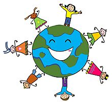 Lets join hands to save earth Photographic Print