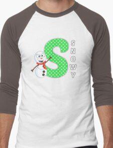 'S' is for Snowy! Men's Baseball ¾ T-Shirt