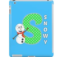 'S' is for Snowy! iPad Case/Skin