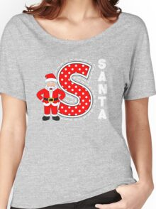 'S' is for Santa! Women's Relaxed Fit T-Shirt