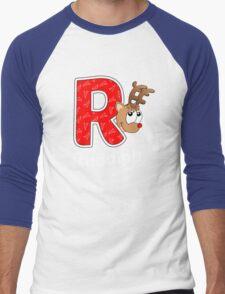 'R' is for Rudolph! Men's Baseball ¾ T-Shirt