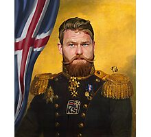 Aron Gunnarsson lord of Ice Photographic Print