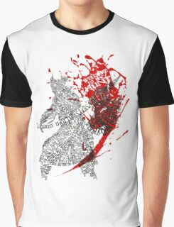 BloodBorne Typography - welcome to the hunt Graphic T-Shirt