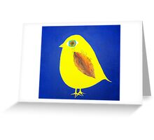 Yellow Bird Greeting Card
