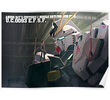 Nu Gundam in Hangar Poster