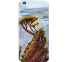 Trees on the rock iPhone Case/Skin