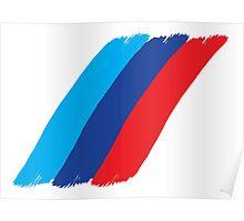 BMW M series stripes Poster