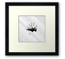 Upside Fly Framed Print