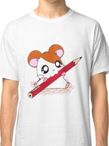 Hamtaro with pencil & flowers Classic T-Shirt