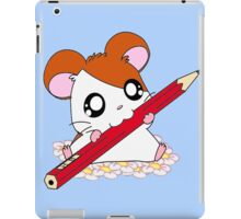 Hamtaro with pencil & flowers iPad Case/Skin