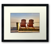 A Place to Hold Hands: Chesapeake Bay Framed Print