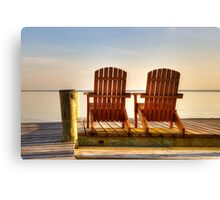 A Place to Hold Hands: Chesapeake Bay Canvas Print