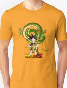 Dragon Ball - Little Son Goku with Shenron Unisex T-Shirt