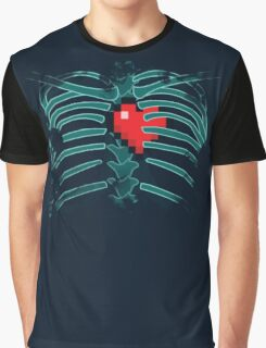 8bit heart in cage Graphic T-Shirt