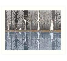 Forest reflections Art Print