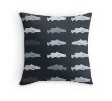 Barramundi Repeat Throw Pillow Dark Throw Pillow