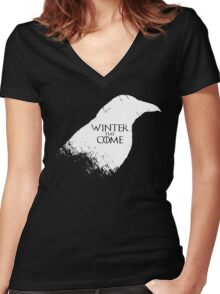 Winter Has Come Tee Women's Fitted V-Neck T-Shirt