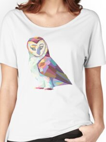 Geometric Owl Women's Relaxed Fit T-Shirt