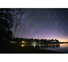 Lake Samsonvale Star Trails Photographic Print