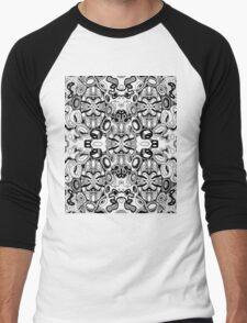 Minatures 13 Pattern Var 1  Black Transparent Background Men's Baseball ¾ T-Shirt