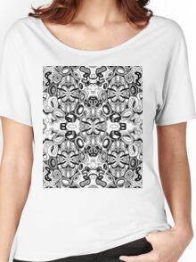 Minatures 13 Pattern Var 1  Black Transparent Background Women's Relaxed Fit T-Shirt