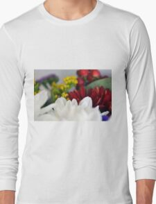 Macro on colorful flower petals. Long Sleeve T-Shirt