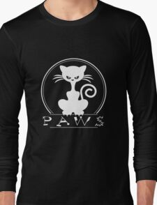 PAWS love pets awesome animals cool funny t-shirt Long Sleeve T-Shirt
