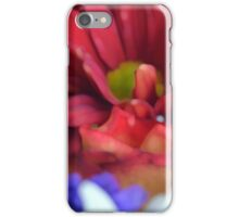 Macro on colorful flower petals in watercolor style iPhone Case/Skin