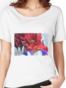 Macro on colorful flower petals in watercolor style Women's Relaxed Fit T-Shirt