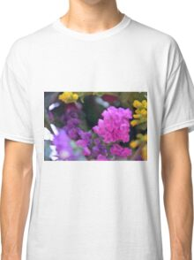Colorful image in watercolor style with painted flowers. Classic T-Shirt