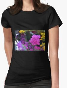 Colorful image in watercolor style with painted flowers. Womens Fitted T-Shirt