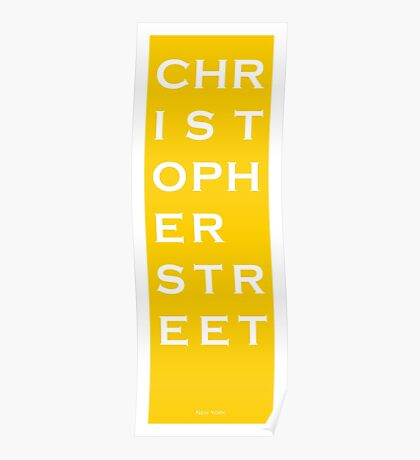 Christopher Street - NYC - Yellow Poster