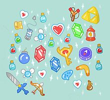Zelda Items by empyrie