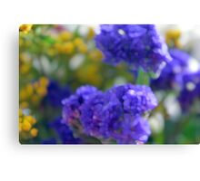Colorful image in watercolor style with painted flowers. Canvas Print