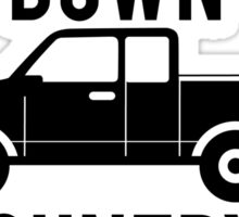 Windows Down Country Up Sticker