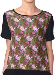 Pretty Floral Print Chiffon Top