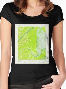 USGS TOPO Map Alaska AK Kateel River A-4 356509 1952 63360 Women's Fitted Scoop T-Shirt