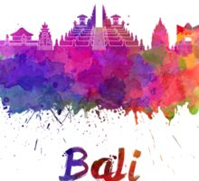 Bali skyline in watercolor Sticker