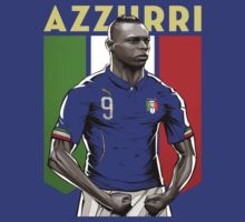 Balotelli italy World Cup Shirt by Jeffrey Garcia