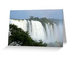 Iguassu Falls up close Greeting Card