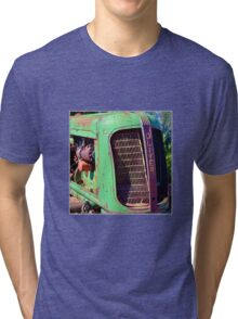Old Green Oliver Tractor Tri-blend T-Shirt